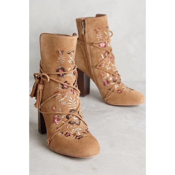0a522db167229c Anthropologie Shoes - Anthropologie Winnie Embroidered Ankle Boots